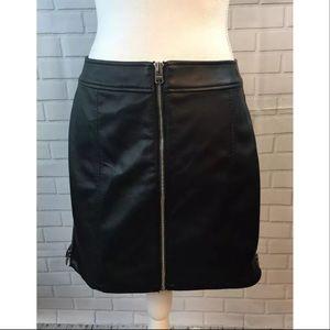Express Short Pleather Zipper Skirt Size 6